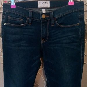 Frame Skinny Jeans Dark Wash